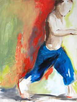 Junge, Acryl auf Pappe, 75 x 100 cm, 2003
