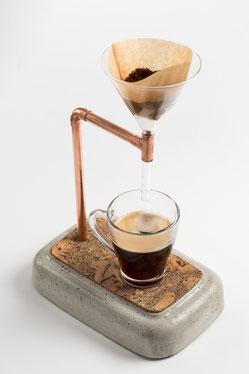 Kaffeebereiter, Coffee Maker aus Beton