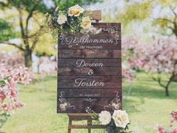 Hochzeitsschild, Willkommenschild, Weddingsign