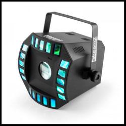Lichteffekte mieten verleih Alex Light and Sound Beamz led Cub4 2