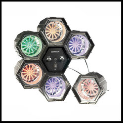 Lichteffekte mieten verleih Alex Light and Sound Lichtorgel 6 LED