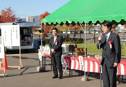 北海道議会議員:道下 大樹先生(右) 札幌市議会議員:長谷川 衛先生