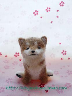 羊毛フェルト 柴犬 sibainu