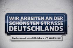 Klare Ansage der Siedlergemeinschaft. (WAZ-Foto: Lars Fröhlich)