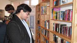 Öffentlicher Bücherschrank im Sozialzentrum St. Peter