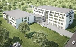 Modell des Klinik-Neubaus in Hochfeld