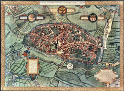 Corputius-Plan: Duisburg 1566