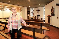 Schwester Martina Paul weiß um die Nöte der Besucher.  (WAZ-Foto: Michael Dahlke)