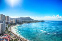ハワイ ホノルルの海岸