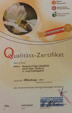 Unser Qualitätszertifikat