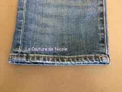 Faux ourlet jean