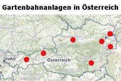 Hier geht es zu den personenbefördernden Gartenbahnanlagen in Österreich