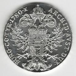 Investieren in das Edelmetall Silber Maria-Theresien-Taler (Rückseite)