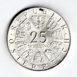 Investieren in das Edelmetall Silber 25 Schilling  (Vorderseite)