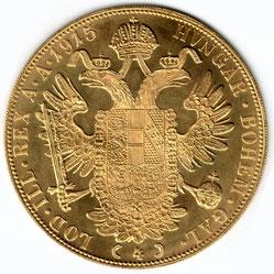 Investieren in das Edelmetall Gold Vierfach Dukaten (Rückseite)