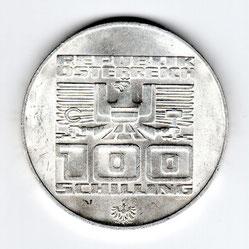 Investieren in das Edelmetall Silber 100 Schilling  (Vorderseite)