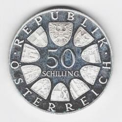 Investieren in das Edelmetall Silber 50 Schilling  (Vorderseite)