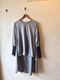 グレンチェックロングTシャツ8900