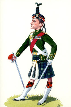 This caricature of the Commanding Officer of The Royal Highland Fusiliers, 2nd Battalion The Royal Regiment of Scotland was presented to him in July 2014.  A fun but tricky commission as I had never met him.
