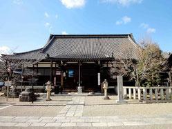 京都御所から移されたという愛染堂
