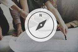 Neuausrichtung, Fokussierung, Ausrichtung, Orientierung, Richtung, Sinn, strategy implementation, Ressourceneinsatz