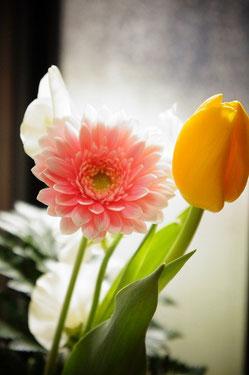 春らしい花束でしょう♪