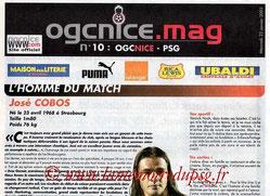 Programme  Nice-PSG  2002-03