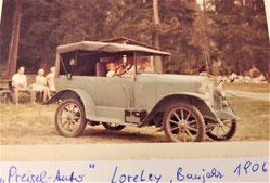 Aus dem Archiv - angeblich das 1. Auto in Tresdorf