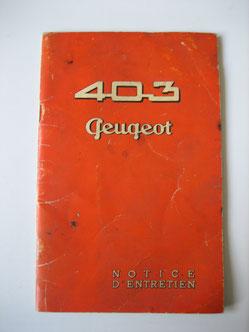 Peugeot 403 Notice d'entretien Foto 91