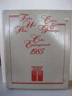 Peugeot / Talbot Farben und Polster Foto 53