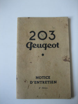 Peugeot 203 Notice d'entretien Foto 90