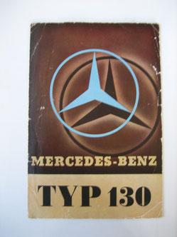 Mercedes Benz 130 Prospekt 1935 Foto 113