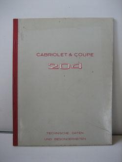Beschreibung / Techn. Daten 204 Cabrio / Coupé Foto 50