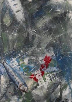 iode acrylique sur toile