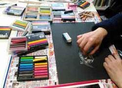 絵本創作基礎コース(画材課題)パステルの画像