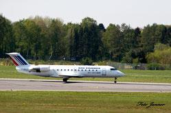 Air France (Brit Air) Flugzeugtyp: Canadair CL-600-2B19 Regional Jet CRJ-100ER ( französische Regionalfluggesellschaft)