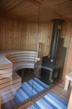 Vue d'intérieur du Sauna Cottage Viivi