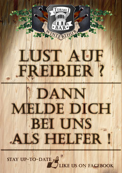 Türmli-Bar sucht Helfer