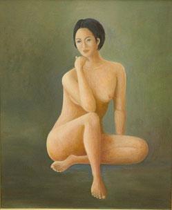裸婦 油彩12号