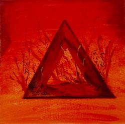 """Element Feuer von Yin und Yang #Buddhismus Werk 11 Serie """"Glück und Zufriedenheit"""" by Atelier Zippo"""