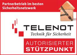 Telenot Partnerbetrieb Sicherheitsnetzwerk bestes Sicherheitsnetzwerk mit Brief und Siegel