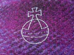 strapazierfähiger Wollstoffvon den Äußeren Hebriden -  100% Schurwolle, 140 cm breit