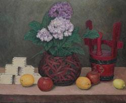 紫陽花と酒
