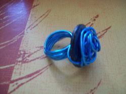 Bague Alu bleu