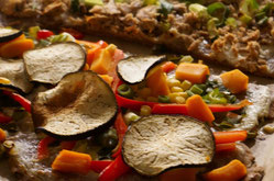 Vollkorn-Flammkuchen mit Gemüse
