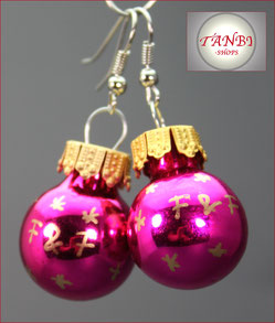 Weihnachtsohrringe F&F Ohrringe pink