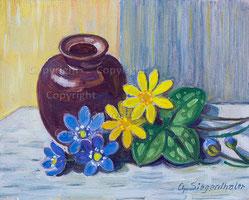 Nr. 0295  Frühlingsblumen und Vase