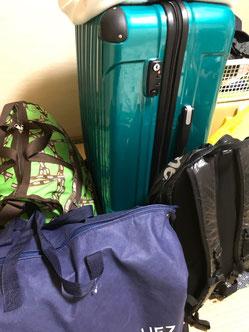 出発前の荷物