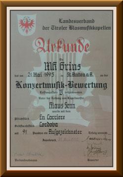 MK-Grins, Konzertmusik-Bewertung 1995