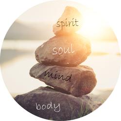 Das Bild symbolisiert die Ganzheitlichkeit der Kinesiologie: Körper, Geist und Seele werden als Einheit betrachtet.